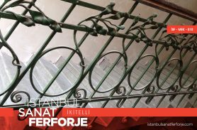 Khaki Green, Elegant Wrought Iron Stair Railing