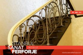 Leaf Pattern Wrought Iron Stair Railing