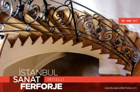 Flower Pattern Wrought Iron Stair Railing