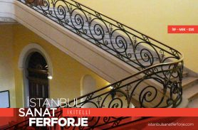 Black, Elegant, Pavilion Wrought Iron Stair Railing