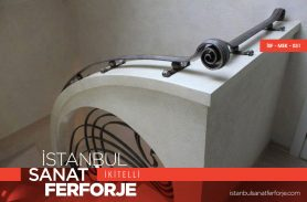 Modern Design Wrought Iron Stair Railing