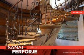 Ahşap Tutmalı, Modern Ferforje Merdiven Korkuluğu