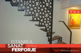 Laser Cut Wrought Iron Stair Railing