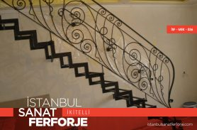 Elegant Wrought Iron Stair Railing