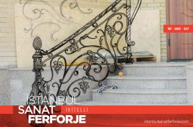 Rope Pattern, Wrought Iron Stair Railing