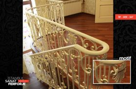 Elegant Modern Pavilion Wrought Iron Stair Railing