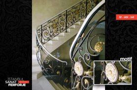 Altın İşleme Ferforje Merdiven Korkuluğu