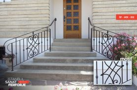Klasik Tasarım Ferforje Merdiven Korkuluğu