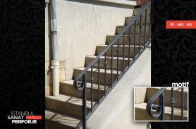 Parallel Structure Wrought Iron Stair Railing