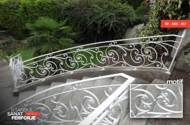 White Wrought Iron Stair Railing