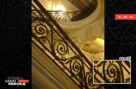 Wood Detail Wrought Iron Stair Railing