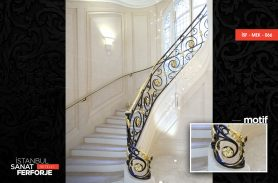 Elegant Design Gold Processing Wrought Iron Stair Railing