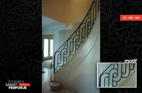 Modern Villa Wrought Iron Stair Railing