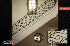 Special Motif Patterned Stair Railing