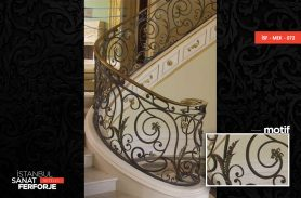 Gold Processing Wrought Iron Stair Railing