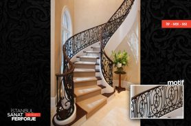 Classical Processing Wrought Iron Stair Railing