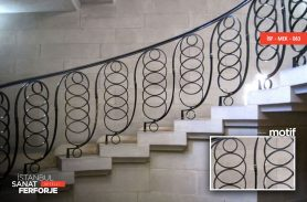 Oval Structure Wrought Iron Stair Railing