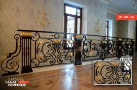 Gold Processing Classic Wrought Iron Stair Railing
