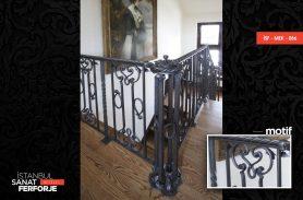 Siyah Dövme Demir Ferforje Merdiven Korkuluğu