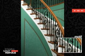 Classic Detail Wrought Iron Stair Railing