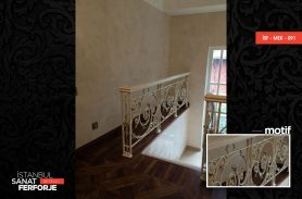 White Classic Processing Wrought Iron Stair Railing