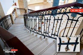 Klasik Ahşap Detay Ferforje Merdiven Korkuluğu