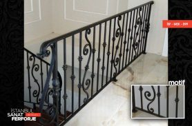 Black Wrought Iron Stair Railing