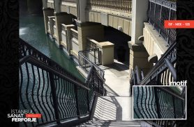 Siyah Ferforje Merdiven Korkuluğu
