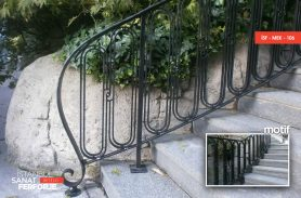 Modern Wrought Iron Stair Railing