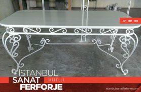 White Elegant Wrought Iron Table