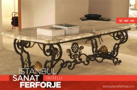 Marble, Gold Embroidered 2020 Wrought Iron Table