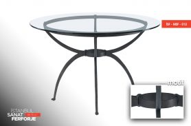 Elegant Wrought Iron Table with Glass