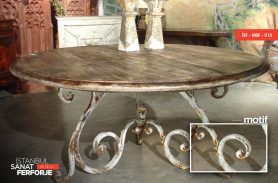 Tumbled Patterned, Elegant, Wrought Iron Table