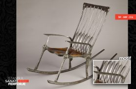 Movable, Wood Engraved, Wrought Iron Chair