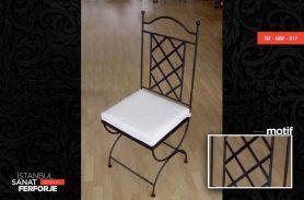 Izgara Motifli, Şık, Modern Sandalye