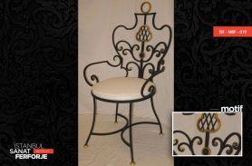 Elegant, 2020 Wrought Iron Chair with White Cushion