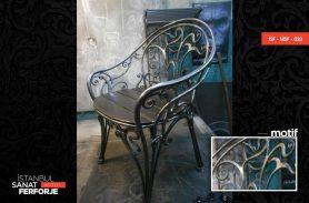Black, Stylish, Wrought Iron Chair