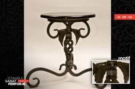 Leaf Pattern Wrought Iron Table