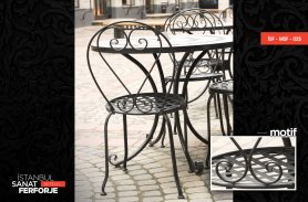 Heart Detail Wrought Iron Chairs and Tables