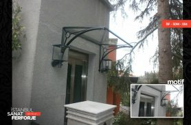 Flat Glass Design Wrought Iron Porch