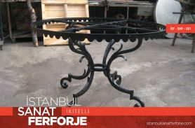 Black Wrought Iron Coffee Table