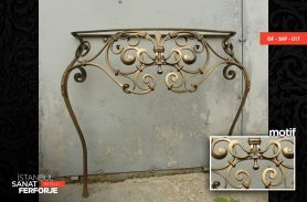 Curved Elegant Wrought Iron Coffee Table