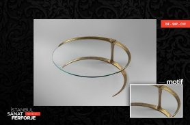 Gold Crescent Design Wrought Iron Coffee Table