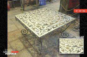 Laser Cut Wrought Iron Coffee Table