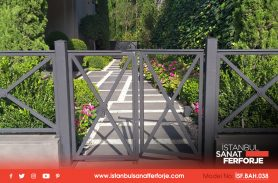 Two Door Opening, Small Size, Wrought Iron Garden Gate