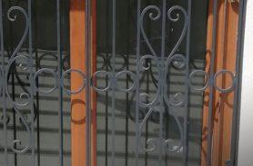 Padlocked, Openable, Wrought Iron Window Railing