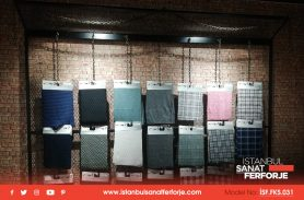 Rising Knitted Fabric Company / Wrought Iron Shelf