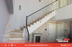 Gray Color Modern Wrought Iron Stair Railing