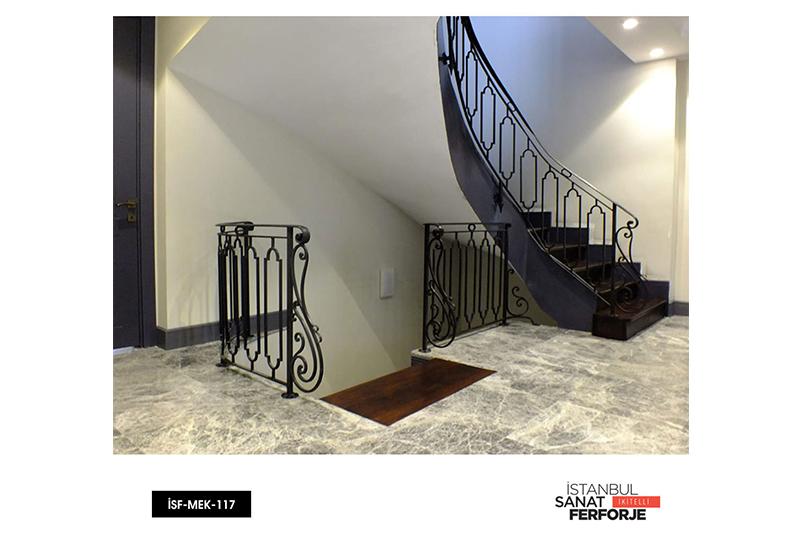 Sıralı İçi Boş Dikdörtgen Detay,Ferforje Merdiven Korkuluğu