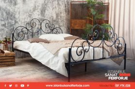 Hand Work Clover Model, Wrought Iron Bed